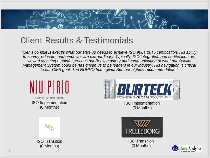 PPT - Results & Testimoniaks